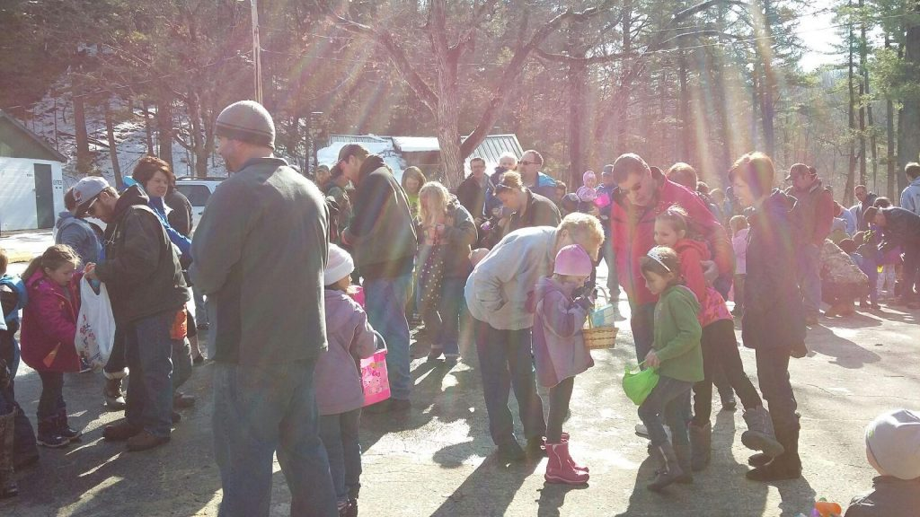 Beautiful sunny day for an egg hunt!