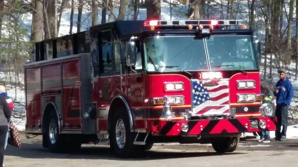 Fire truck brings Easter Bunny to Legion Park